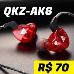 Fone de Ouvido QKZ Ak6 c/ Microfone Gamer Retorno de Palco e Monitoramento