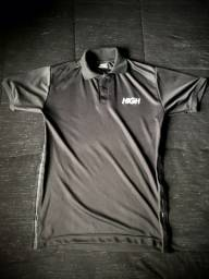 Camisa High Polo Logo Dry Fit Black/reflective