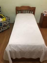 Cama de solteiro + cama auxiliar + 3 gavetas + colchão de molas