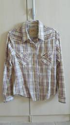 Camisa xadrez Hollister