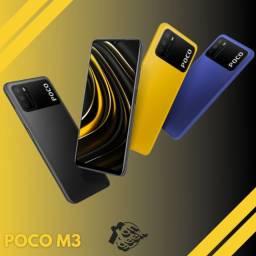 Xiaomi Poco M3 64gb - Bateria de 6000 mAh   Versão global   Lacrado com garantia