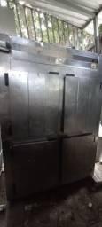 Mini camera fria - geladeira refrigerada inox 4 portas
