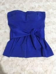 Blusa azul - Tomara que caia - G