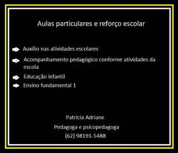 Aulas particulares: reforço e  alfabetização