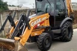 Retroescavadeira case 580 2019 4x4 cabinada com ar