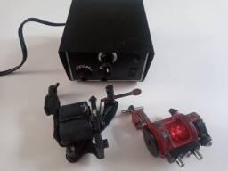Maquinas tattoo + fonte com pedal e cabos
