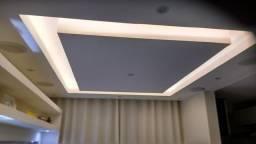 Rebaixamento de teto com drywall