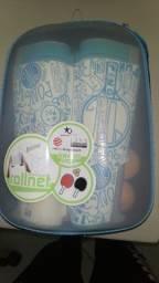 Kit de ping pong na caixa.