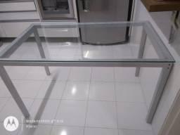 Mesa com tampo de vidro Tok Stok de l 75 x c 1.30x A75
