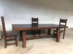 Mesa antiga madeira nobre maciça