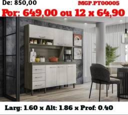 Armario de Cozinha - Kit de Cozinha Barata - Promoção em MS
