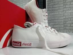 Tênis coca cola, couro original