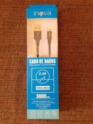 Cabos USB tipo micro e C da marca Inova, novos.