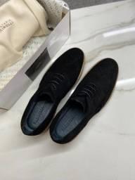 Sapato Social Masculino Derby Brogue Bonnie Preto Facirolli