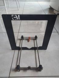 Estrutura de uma impressora 3d prusa + guias lineares xyz + peças de brinde
