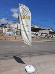 Wind Banner Fly Flag Dupla Face Kit Completo Arte Gratis