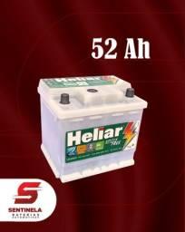 Bateria Heliar 52 Amperes - 24 meses de garantia;