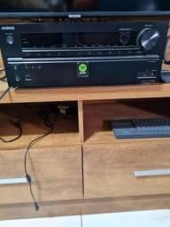 Receiver Onkyo TX NR 636 com caixas