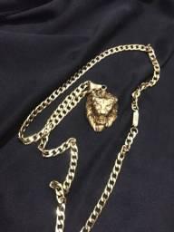 Título do anúncio: Cordão banhado dote do leão