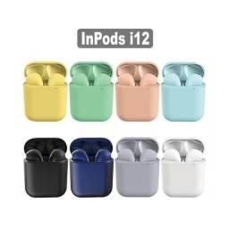 Fone de Ouvido i14 i12 i11 Colorido Bluetooth Touth 5.0