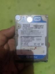 VENDO HD de 320 GIGA FUNCIONANDO POR 80,00 R$