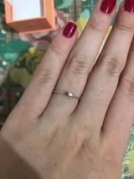 Título do anúncio: anel prata solitário fino