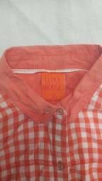 Blusa estampa geométrica laranja