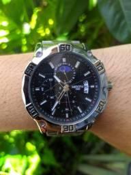 Título do anúncio: Relógio Nibosi Prateado Luxo