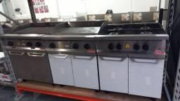 Conjunto inox pra cozinha fogao/chapa/broiller Alessandro *