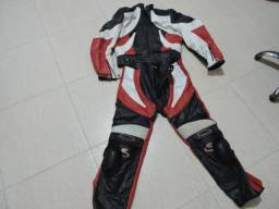 Conjunto para motoqueiro em couro original
