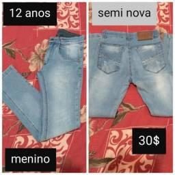 Calças jeans 12 anos