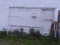 Portão de ferro zincado 2,70x1,80
