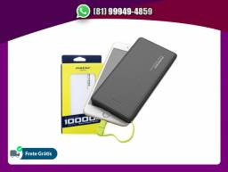 Bateria Portátil Pineng Carregador Power Bank 10000mah Pn-951 Slim