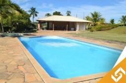 Chácara c/2 suítes, a beira lago e com piscina, em Caldas Novas. Cód 1031