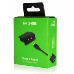 Bateria E Cabo Carregador para Controle Xbox One Charge e Play Kit