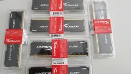 Memória DDR4 Hyperx Fury 8GB 2400MHz p/ PC