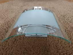 Luminária em vidro curvo para 3 lâmpadas, base E27, cor titânio - Usada