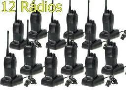 Kit 12 Radios Comunicadores Baofeng Walk Talk Baofeng 777s<br>