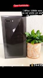 8plus 128gb novo na cor preto anatel um ano de garantia apple