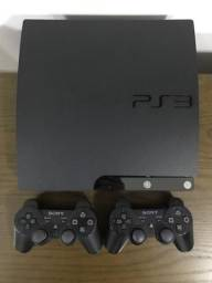 Playstation 3 - PS3 Destravado 2 controles + HD externo 500GB