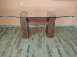 Mesa de jantar com tampo de vidro 10 mm