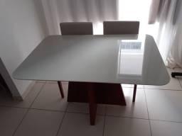 Mesa bege 4 completa pronta entrega