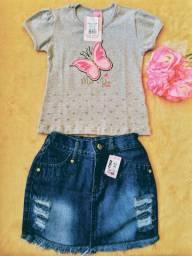 Conjunto de saia jeans