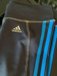 Legging Adidas Cinza/Azul tam P