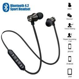 Fone de Ouvido Bluetooth com Magnético Fio de Pescoço com Microfone