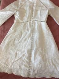 Vestido branco excelente para noivados/ batismos