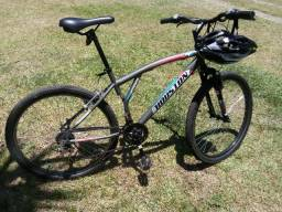 Bicicleta houston aro 26 semi-nova + capacete + acessorios