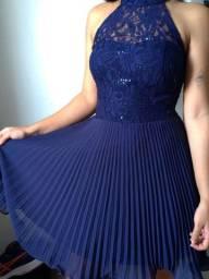 Vestido azul Plisado