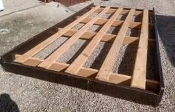Cama auxiliar de madeira, 0,78, Marrom.