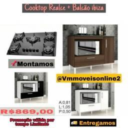 Balcão   balcão   com  cooktop   mega  chama   -  entregamos   e  montamos